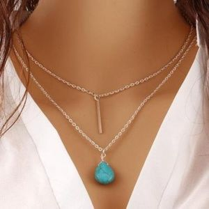Multilayer Turquoise Statement Necklace